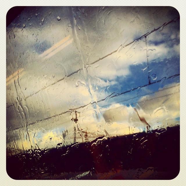 Rain & blue sky